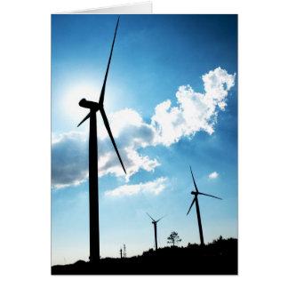 Turbina de viento tarjeta de felicitación