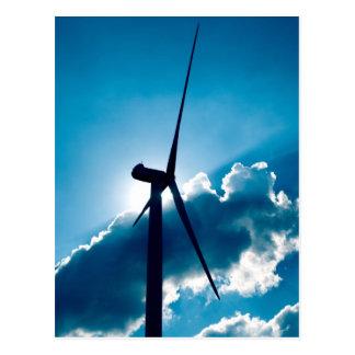 Turbina de viento tarjeta postal