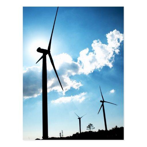Turbina de viento tarjetas postales