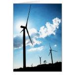 Turbina de viento tarjeton