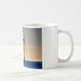 Turbina de viento taza de café