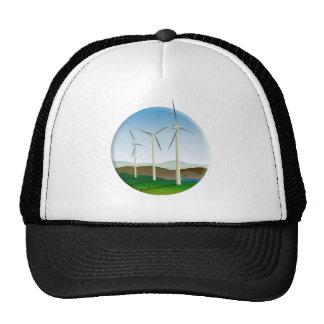 Turbina de viento verde de la energía gorros