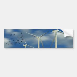Turbina de viento verde de la energía pegatina para auto