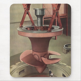 Turbina gigante del vintage para un generador alfombrillas de ratón