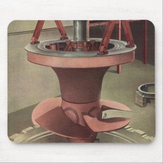 Turbina gigante del vintage para un generador tapete de raton