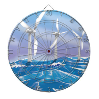Turbinas de la energía eólica del mar tabla dardos