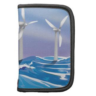 Turbinas de la energía eólica del mar organizadores