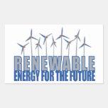 Turbinas de la energía eólica rectangular pegatinas