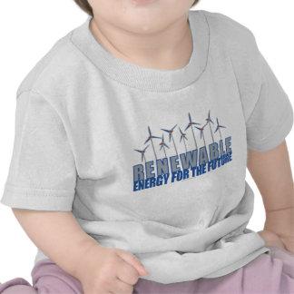 Turbinas de la energía eólica camisetas