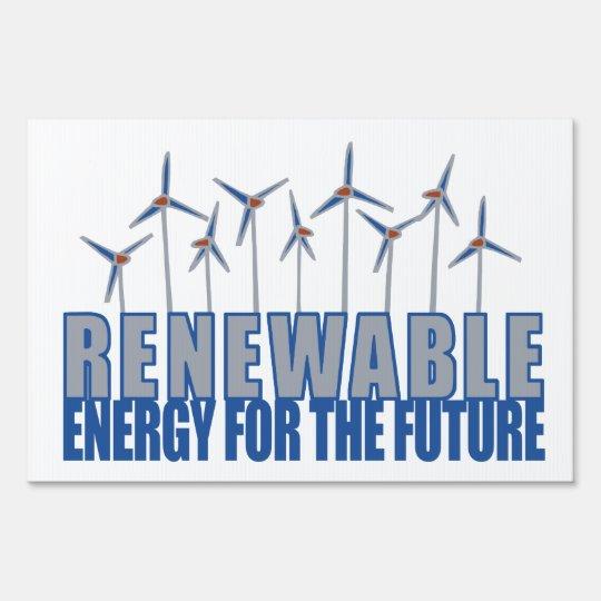Turbinas de la energía eólica señales