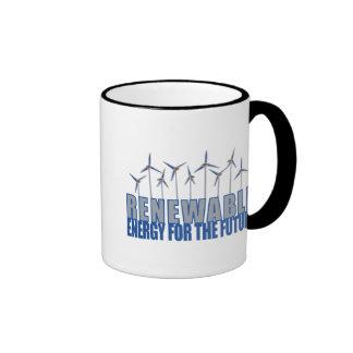 Turbinas de la energía eólica tazas de café