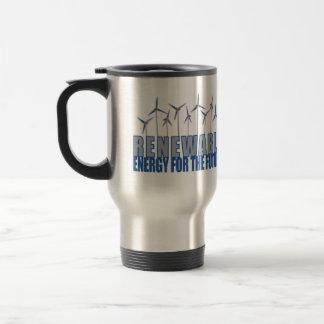 Turbinas de la energía eólica tazas