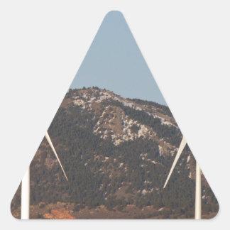 Turbinas de viento con un retrato de la Luna Llena Colcomanias De Triangulo