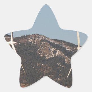 Turbinas de viento con un retrato de la Luna Llena Calcomania Forma De Estrella Personalizada