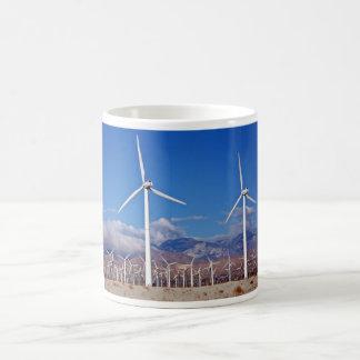 Turbinas de viento taza básica blanca