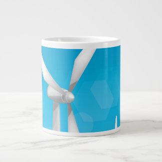 Turbinas de viento taza de café gigante