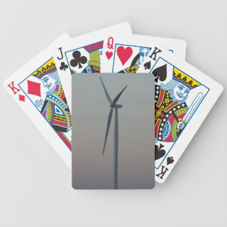 Turbine at Sunset Bicycle Playing Cards