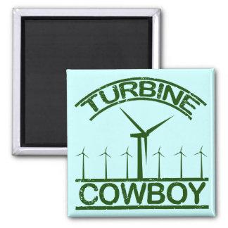Turbine Cowboy 2 Inch Square Magnet