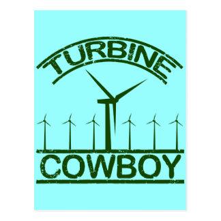 Turbine Cowboy Postcard
