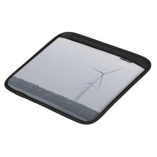 Turbine Themed, Tall, White Wind Turbines Generate iPad Sleeves