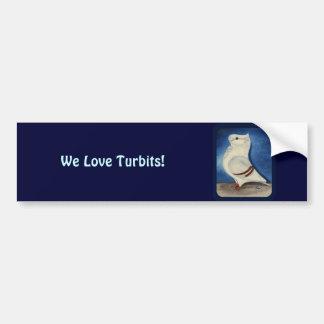 Turbit Pigeon 1979 Car Bumper Sticker