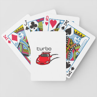 TURBO CAR BICYCLE PLAYING CARDS