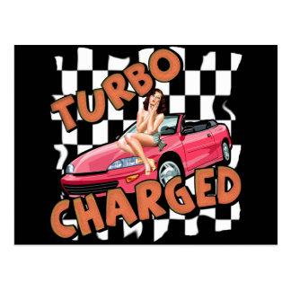 Turbo cargó las camisetas y los regalos para él postal