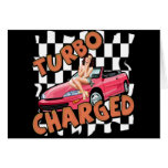 Turbo Charged T-shirts and Gifts For Him Greeting Card