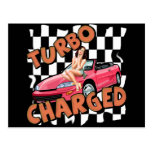 Turbo Charged T-shirts and Gifts For Him Post Cards