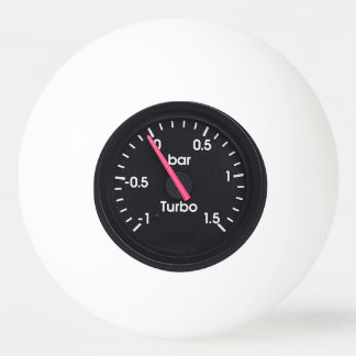 """""""Turbo Gauge"""" design gifts and products Ping Pong Ball"""
