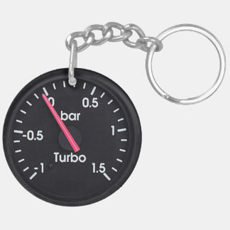 """""""Turbo Gauge"""" design gifts and products Acrylic Key Chains"""