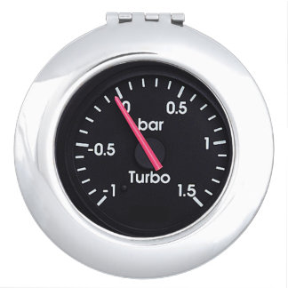 """""""Turbo Gauge"""" design gifts and products Travel Mirrors"""