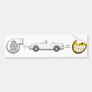 Turbo + MX-5 = Fun bumper sticker Car Bumper Sticker