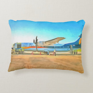 Turbo Prop plane Accent Pillow