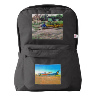 Turbo Prop plane American Apparel™ Backpack