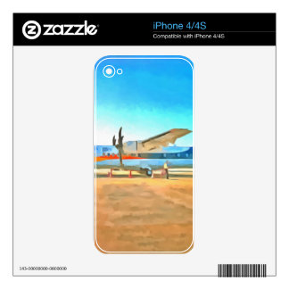 Turbo prop plane decals for the iPhone 4