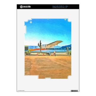 Turbo prop plane iPad 2 decals