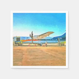 Turbo Prop plane Napkin