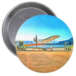 Turbo prop plane pinback button