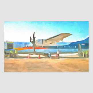 Turbo prop plane rectangular sticker