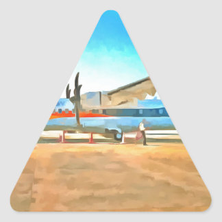 Turbo prop plane triangle sticker