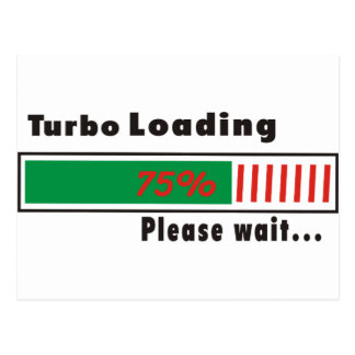 Turbo que carga por favor espera postal