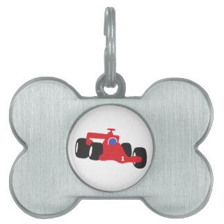 Turbo racing car pet ID tag