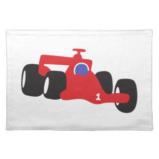 Turbo racing car placemat