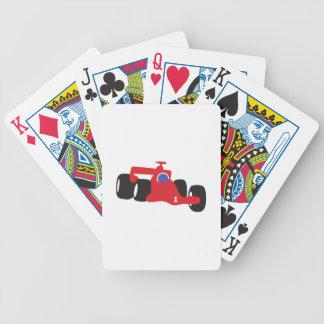 Turbo racing car bicycle playing cards
