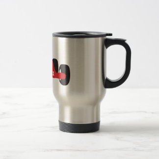 Turbo racing car travel mug