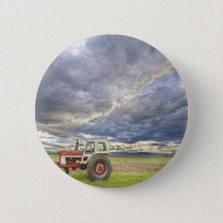 Turbo Tractor Country Evening Skies Button