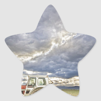 Turbo Tractor Country Evening Skies Star Sticker