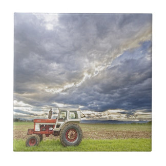 Turbo Tractor Country Evening Skies Ceramic Tile