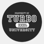 Turbo University Dark Stickers